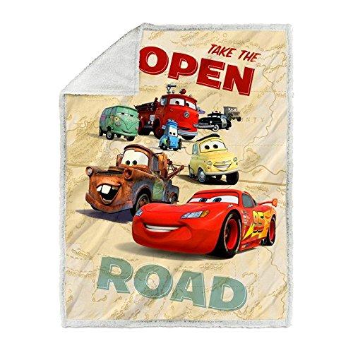 Caleffi DISNEY coperta Plaid CARS ROAD - SOFFICE E CALDA - *OFFERTA*