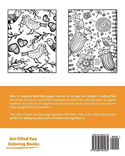 Beautiful Birds Coloring Book (Volume 2)
