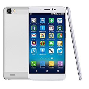 Naerde 5.5 inch IPS HD Screen 3G Android 5.1 Lollipop Smartphone Quad Core 1GB RAM / 8GB HDD SIM-Free Unlocked Dual Sim Card Mobile Phone Cellphone (white) free silicon case