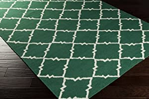 Surya Frontier FT-447 Hand Woven 100-Percent Wool Geometric Area Rug, 8-Feet by 11-Feet