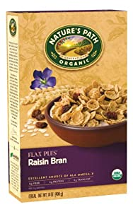 Nature's Path Organic Flax Plus Raisin Bran Cereal, 14-Ounce Boxes (Pack of 4)