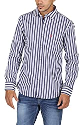 US Polo Assn. Men's Regular Fit Cotton Shirt (USSH3337_Multi-Coloured_S)