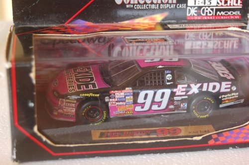 Speedway Collection Ford Thunderbird Jeff Burton 1:43 Scale with Collectible Display Case #99 - 1