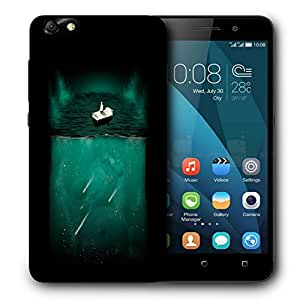 Snoogg Bed On Water Designer Protective Back Case Cover For HUAWEI 4X