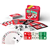 THREE PACK - POPULAR Players Favorite Fill Or Bust Card And Dice Game 3 Piece COMBO Play Set - With 12 Multi Colored Casino Dice & Deck Deck Of Plastic Coated Playing Cards - All In One Family Fun Game Night [BUNDLE, 3pcs] Fill Or Bust & Accessories
