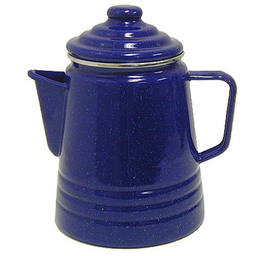 Coleman 9-Cup Coffee Enamelware Percolator (Blue)