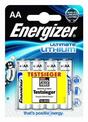 Energizer - Confezione di 4 batterie stilo al litio