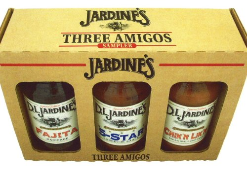 Gift Set - D.L. JARDINES Texas Grilling Sauces-- The Three Amigos for whatever you are grilling--beef, fish or chicken, this variety of sauces delivers an authentic flavor in every bite. This sampler is great for a gift or just to keep for yourself to imp