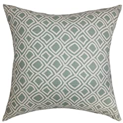 The Pillow Collection Cacia Geometric Pillow, Surf