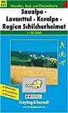 echange, troc Cartes Freytag - Carte de randonnée : Koralpe, Lavanttal, Saualpe 1 : 50 000 Freytag- und Berndt Wanderkarte