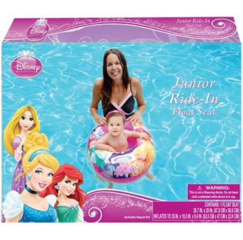 Disney Princess Baby Toddler Ride-on Float Seat - Swim Raft, Ring, Pool, Beach