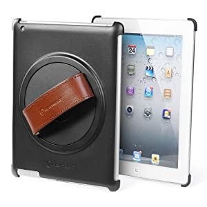 New Trent Grabbit/Gladius iPad Case compatible: iPad 4, iPad 3 and iPad 2. 360 rotatable, leather hand strap, stand/movie wall clip and Matte Finish.