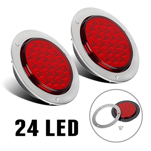 Partsam 2pc 24-LED Red 4