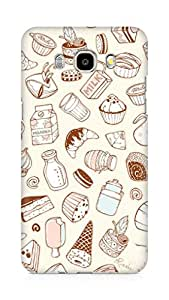 Amez designer printed 3d premium high quality back case cover for Samsung Galaxy J5 - 6 (New 2016 Edition) (Eating food)