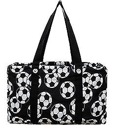 Soccer Ball Print Utility Tote