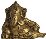 Exotic India Relaxing Ganesha - Brass Sculpture