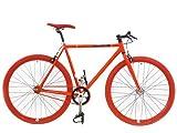 カスタム自転車★ピストバイク◆3rdコレクション CREATE bikes レッド×レッド 54cm (WCP5434)