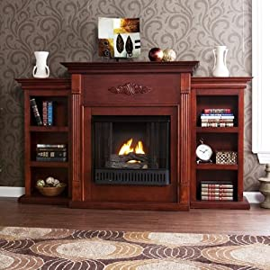 42 39 39 electric fireplace led light with book. Black Bedroom Furniture Sets. Home Design Ideas
