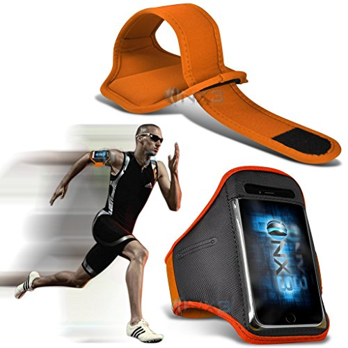 (Orange) Huawei P8 Fitness Laufen Jogging Radfahren Gymnastik-Armbinde-Halter-Kasten-Abdeckung ONX3®