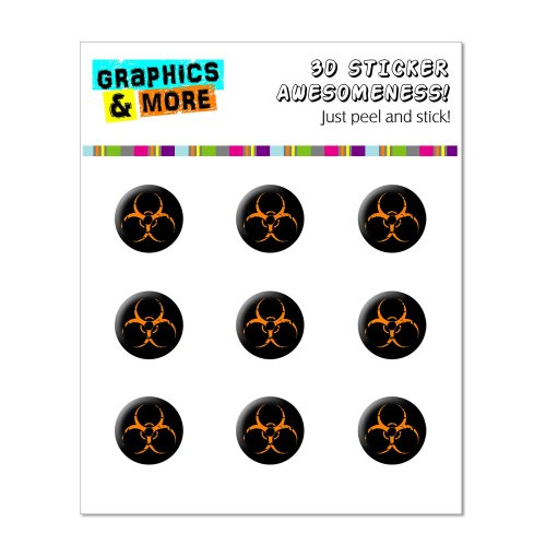 Graphics and More Zombie Outbreak Response Biohazard Orange Home Button Stickers Fits Apple iPhone 4/4S/5/5C/5S, iPad, iPod Touch - Non-Retail Packaging - Clear - 1