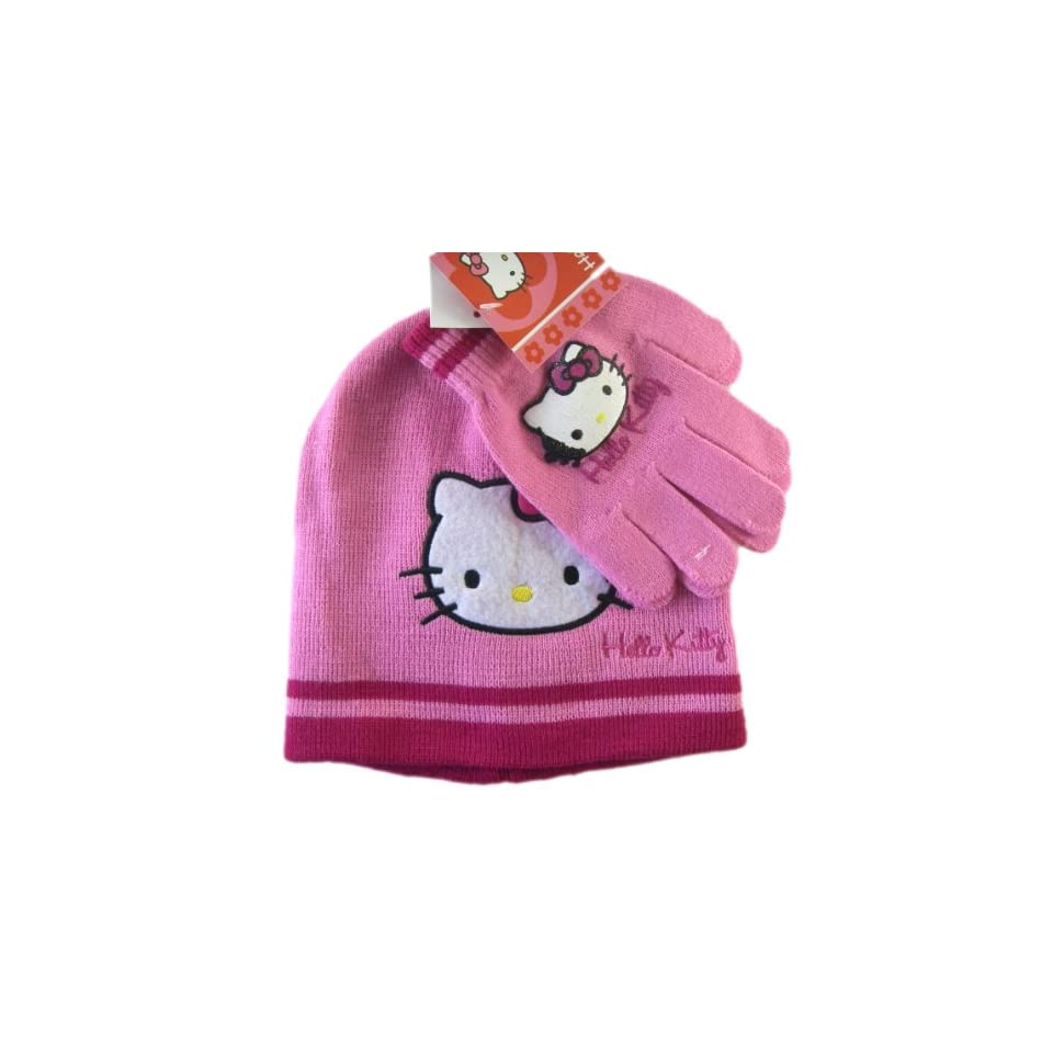 7e9d3c85c09 Sanrio Hello Kitty Winter Hat   Gloves Set (pink) Toys on PopScreen