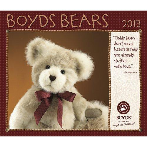 2013 Boyds Bear Deluxe WALL CALENDAR