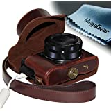 """MegaGear """"Ever Ready"""" Protective Leather Camera Case, Bag for Case for Canon PowerShot G1X Mark II Digital Camera (Dark Brown)"""