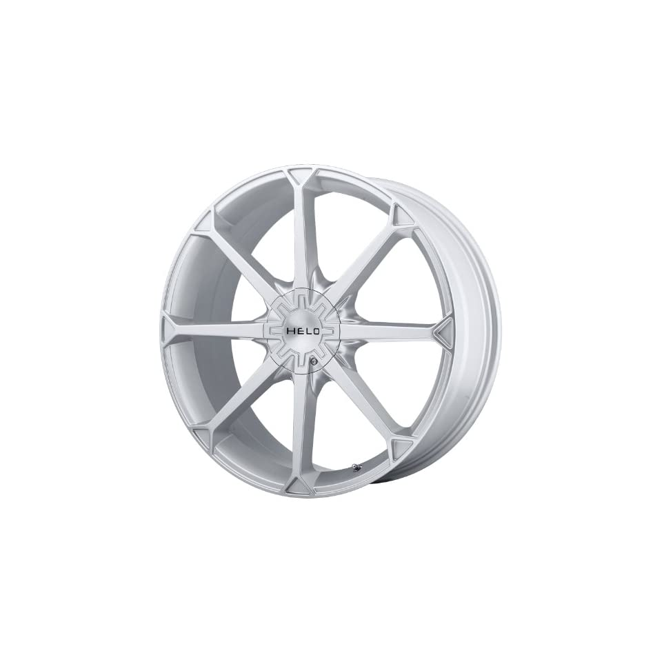 Helo HE870 18x8 Silver Wheel / Rim 5x4.25 & 5x4.5 with a 42mm Offset and a 72.60 Hub Bore. Partnumber HE87088001442 Automotive