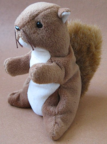 TY Beanie Babies Nuts the Squirrel Plush Toy Stuffed Animal - 1