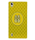 PRINTVISA Abstract Yellow Ladies Footwear Case Cover for VIVO Y15S