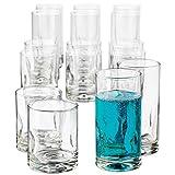 Crisa Impressions 16 piece beverage set, item 1786426, clear