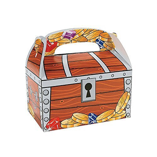 Fun Express Treasure Chest Treat Boxes , Bulk (2-Pack of 12)
