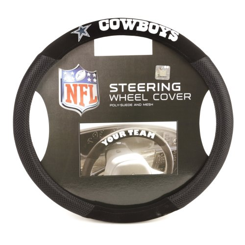 NFL Dallas Cowboys Poly-Suede Steering Wheel Cover at Amazon.com