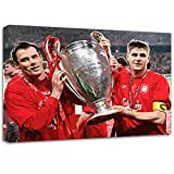 Stevie Gerrard Jamie Carragher Liverpool Modern Canvas Art Print Poster