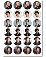 x24 Benedict Cumberbatch Edible Wafer Paper Fairy/Cup Cake Toppers on an A4 sheet - Birthday Cake and Party Idea - Just Cut & Apply
