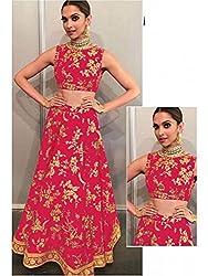 Sanjana Pink banglori silk semi stitched bridal lehenga choli