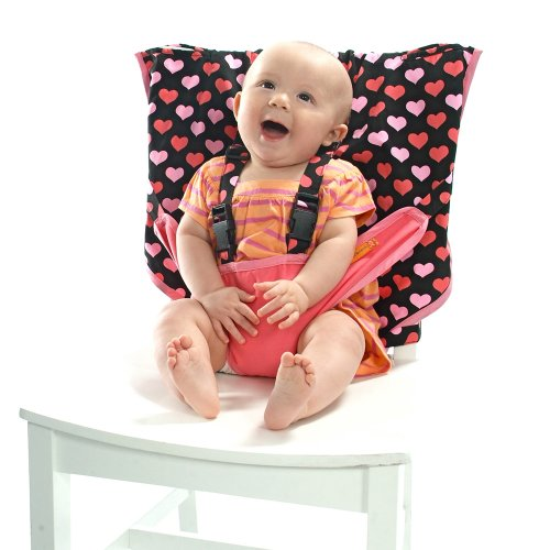 My Little Seat Infant Travel High Chair, Hearts