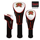 NCAA Maryland Terrapins Nylon Headcover (set of 3) Driver, Fairway, Utility