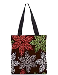 Snoogg Colorful Floral Seamless Pattern In Cartoon Style Seamless Pattern Designer Poly Canvas Tote Bag - B012FUIHPM