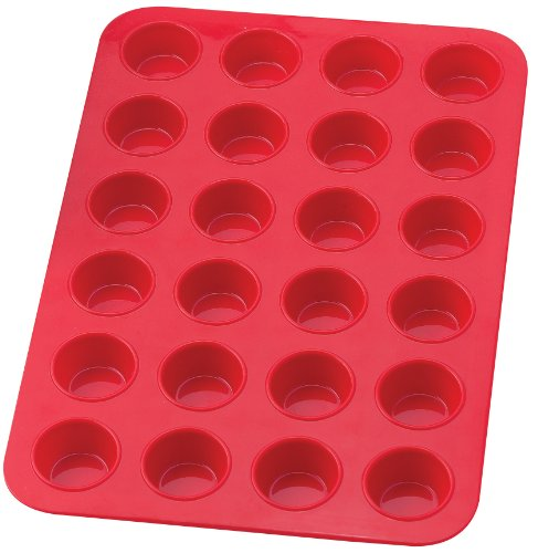 HIC Brands that Cook Essentials Silicone 24-Cup Mini Muffin Pan