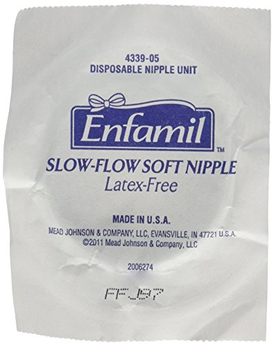 Enfamil Disposable Slow-Flow Soft Nipples, 10 Count - 1