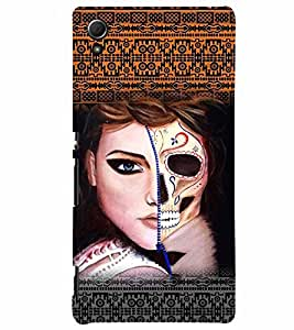 PrintVisa Stylish Cool Girl Modern Art 3D Hard Polycarbonate Designer Back Case Cover for Sony Xperia Z4