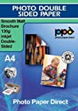 Inkjet BROCHURE and flyer paper-Ultra Smooth Double sided 130g A4 x 100 sheets *Best Seller*