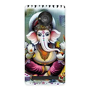 Premium Ganesha Blessings Back Case Cover for Yu Yunique