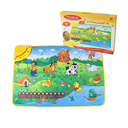 buy Coolplay Fun Learning Playmat Educational Mat Play Animal Sounds Numbers Musical Rhythm for Baby Toddler with Colored Box for sale