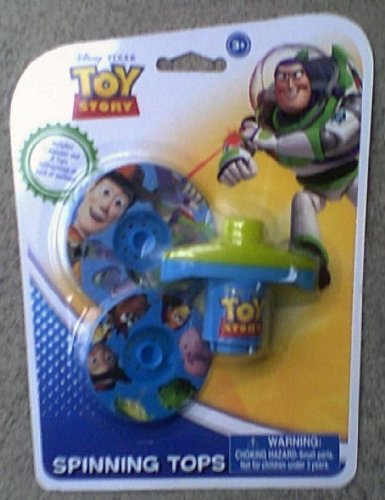 Set of 2 Toy Story Spinning Tops with Launcher - 1