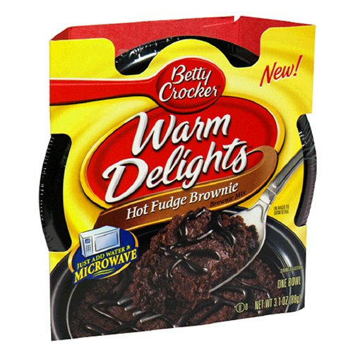 Buy Betty Crocker Warm Delights, Hot Fudge Brownie, 3.1-Ounce Bowls (Pack of 16)