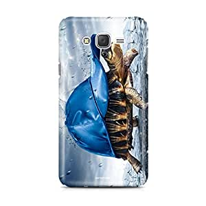 Motivatebox - Samsung Galaxy J1 Back Cover - Cool Turtle Polycarbonate 3D Hard case protective back cover. Premium Quality designer Printed 3D Matte finish hard case back cover.