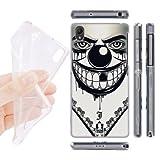 Head Case Designs Evil Clown Bandana Soft Gel Back Case Cover for Sony Xperia Z2 D6502 D6503
