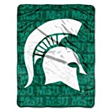 IFS - Michigan State Spartans NCAA Micro Raschel Blanket (Grunge Series) (46in x 60in) at Amazon.com